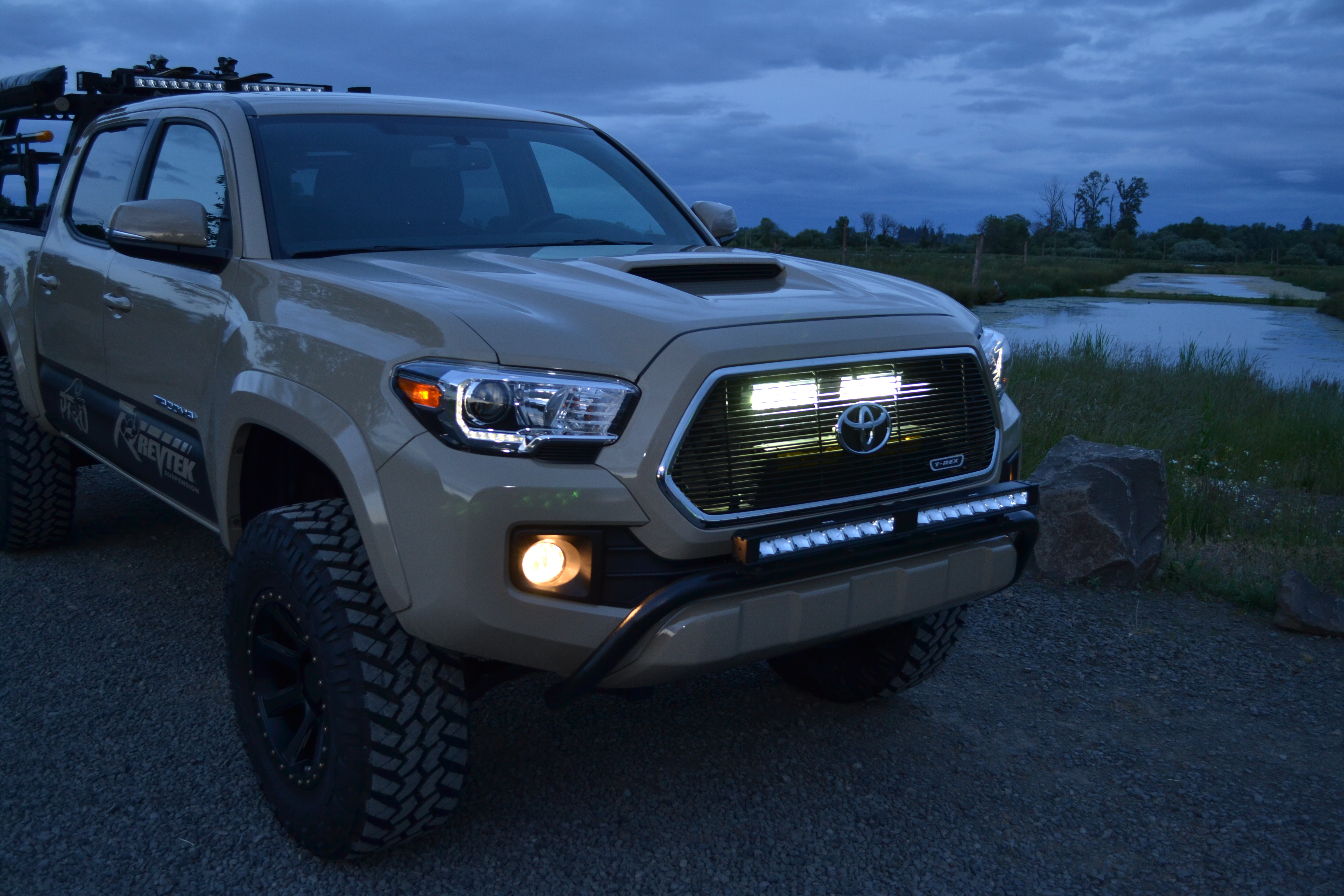 2016 Tacoma Behind the Grille Light Mount